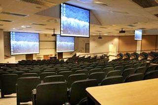 400-seat Auditorium with multiple screens